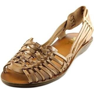 Mia Cajun Women Open Toe Leather Platform Sandal