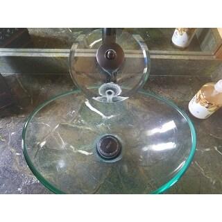 Shop Elite 1418 F22t Unique Oval Transparent Tempered