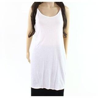 Splendid NEW White Women's Size Medium M Scoop-Neck Stretch Long Cami 420