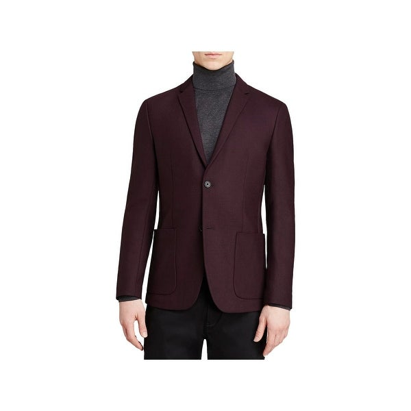 Theory Mens Tobius Sl Newlyn Two-Button Blazer Wool Blend Long Sleeves - 42
