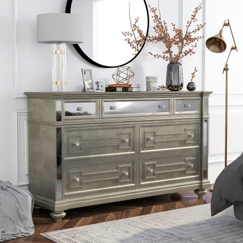 Furniture of America Eaen Contemporary Champagne 7-drawer Dresser