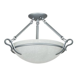 "Sunset Lighting F5486 Venice 3 Light 300 Watt 20"" Wide Semi-Flush Ceiling Fixture"