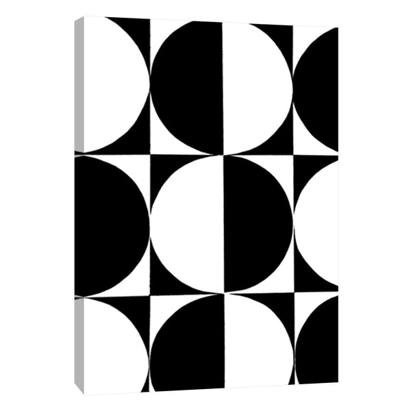 """PTM Images 9-105679 PTM Canvas Collection 10"""" x 8"""" - """"Monochrome Patterns 5"""" Giclee Abstract Art Print on Canvas"""