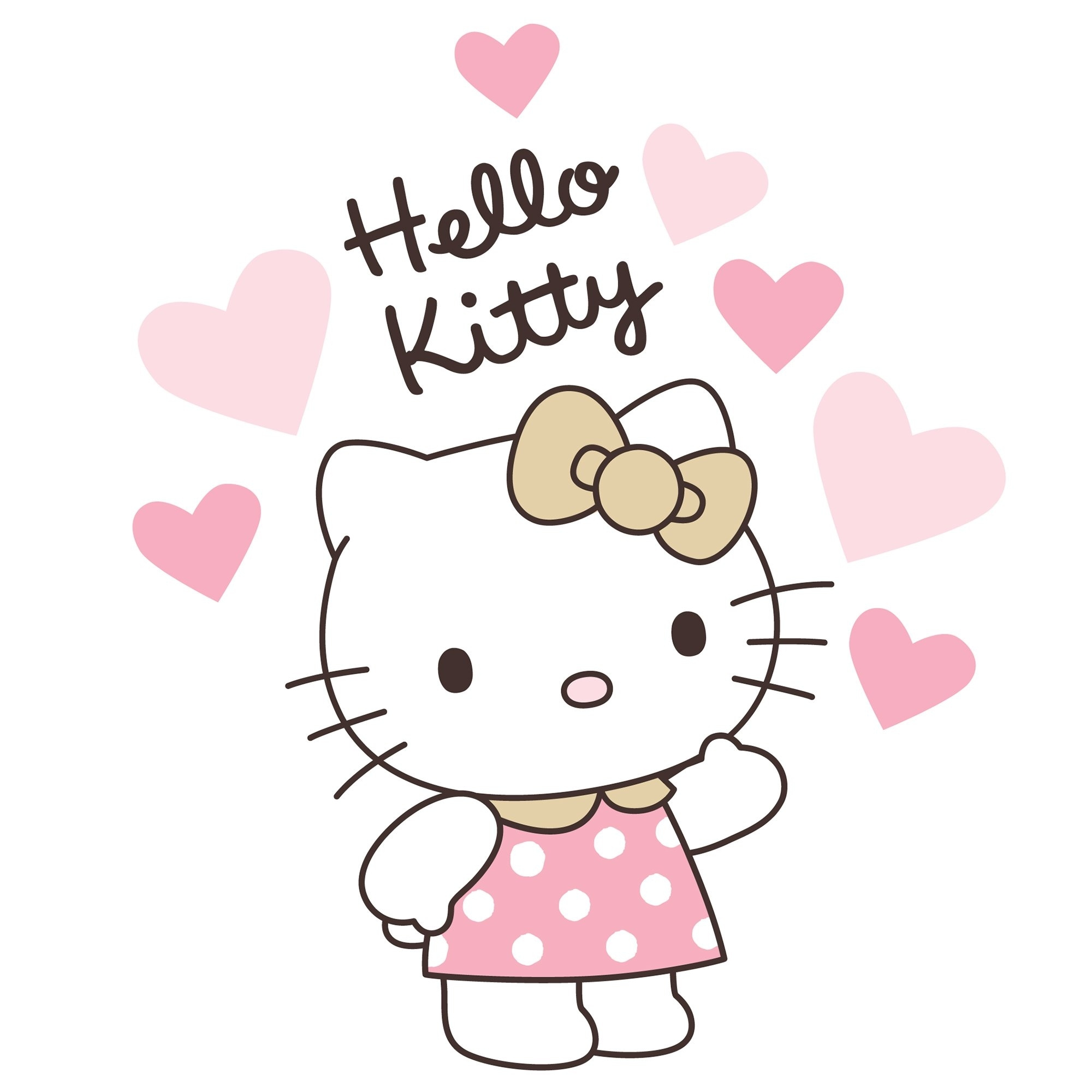 Shop Bedtime Originals Hello Kitty Luv Pink Gold Hearts Wall Decals Overstock 23612964