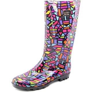 Nicole Miller New York Rainyday Women Round Toe Synthetic Multi Color Rain Boot