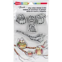 "Stampendous Cling Stamp & Die Set 9""X5.25""-Owl Be Home"