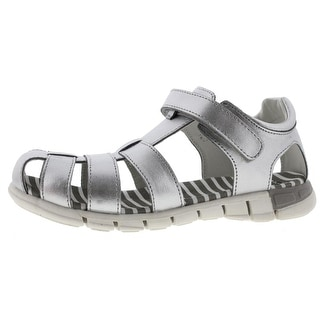 Umi Girls Lia II Fisherman Sandals Metallic Leather - 2 medium (b,m)
