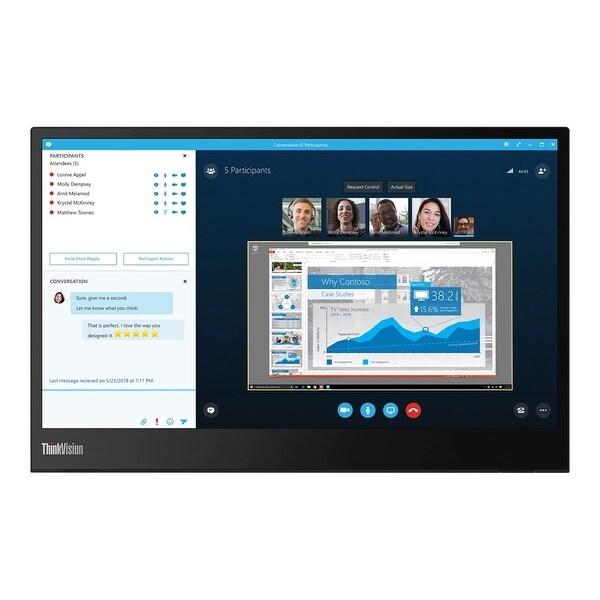 """Lenovo ThinkVision M14 1080p 14"""" IPS Monitor,Black (Refurbished). Opens flyout."""