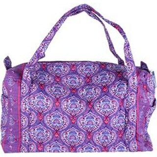 "Lavender Tapestry - Mary Maxim Quilted Duffle Bag 19""X10""X10.5"""