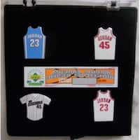 Michael Jordan Upper Deck Jersey Pin Set Collection Lt ed 179123000 Chicago BullsBaronsUNC Tar Heel