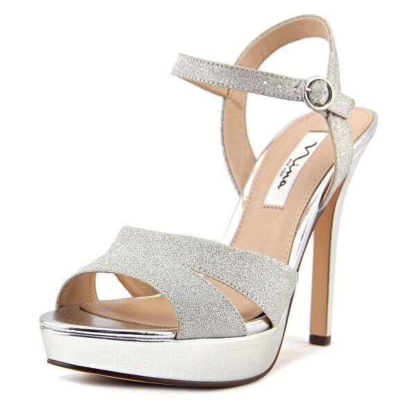 Nina Shara Silver Glitter Sandals