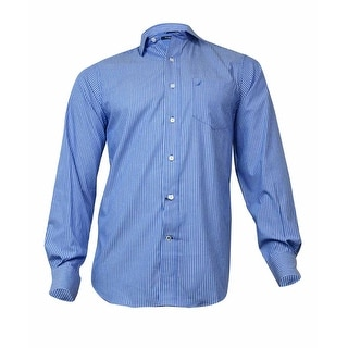 Nautica Men's Wrinkle-Resistant Striped Shirt (S,  French Blue) - S