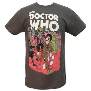 Doctor Who Mens Tenth Doctor's Monsters And Villains Licensed T-Shirt