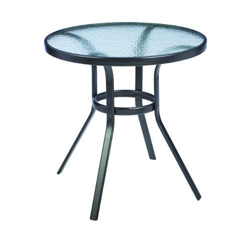 Living Accents Fairview Fairview Round Black Glass Table