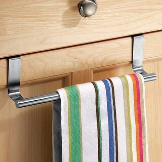 InterDesign 29450 Over The Cabinet Towel Bar, Stainless Steel