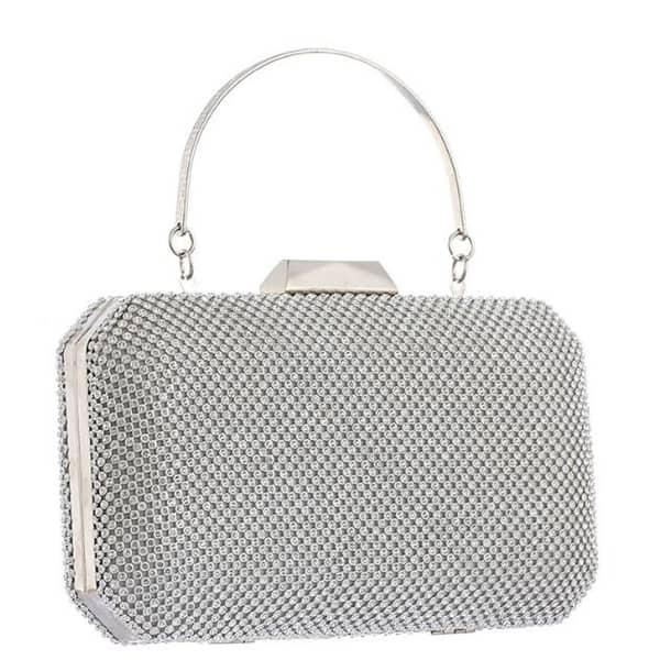 Ladies Diamante Clutch Bag Women/'s Wedding Party Fashion Evening Bags 06-20