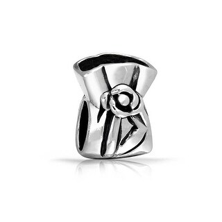 Bling Jewelry Lucky Charm Bag Charm Bead .925 Sterling Silver