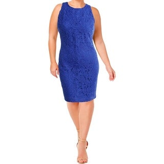 Lauren Ralph Lauren Womens Plus Wear to Work Dress Lace Floral Pattern
