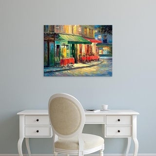 Easy Art Prints Haixia Liu's 'Red & Green Café' Premium Canvas Art