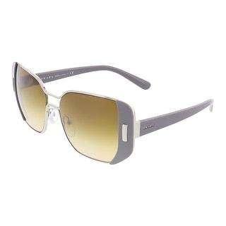 Prada PR 59SS UR91G0 Silver/Grey Rectangular Sunglasses - 54-16-135