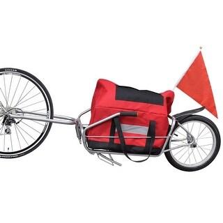 vidaXL Bicycle Cargo Trailer One-wheel with Storage Bag