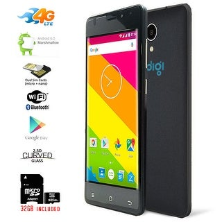 "Indigi Ultra Slim 5"" Curved Screen 4G LTE Unlocked DualSim SmartPhone + 32gb Included - Black"