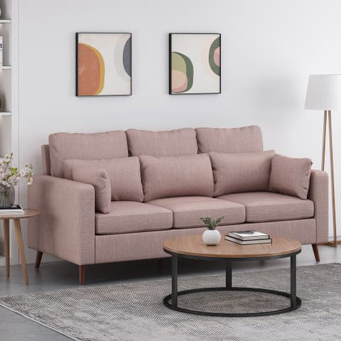 Roselle Contemporary Upholstered 3-seat Sofa by Christopher Knight Home
