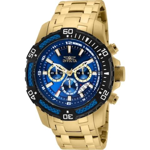 Invicta Men's Pro Diver 24856 Gold Stainless-Steel Quartz Diving Watch