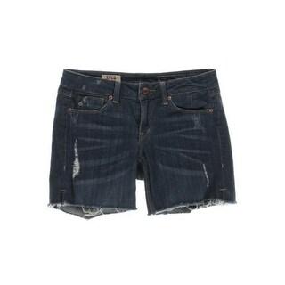 Sold Design Lab Womens Juniors Parkside Short Whisker Wash Cutoff Shorts - 27