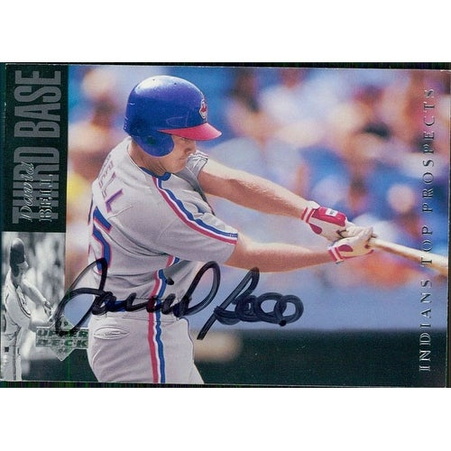 Signed Bell David Cleveland Indians 1993 Upper Deck Baseball Card Autographed