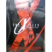 Signed XFiles Fight The Future David Duchovny  Gillian Anderson 23x35 Poster by David Duchovny and