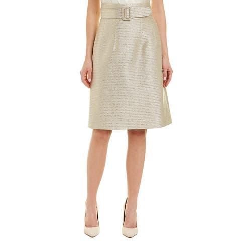 Oscar De La Renta Silk-Lined Pencil Skirt