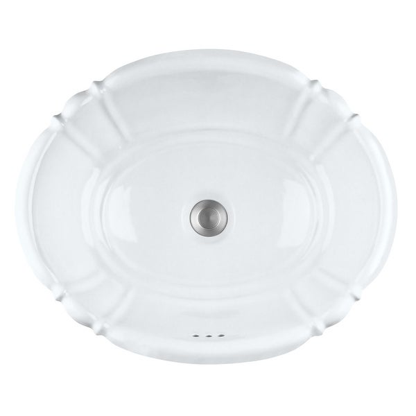 "PROFLO PF1125 17-1/4"" Self Rimming Bathroom Sink - White"
