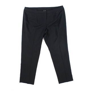 Tahari By ASL NEW Black Womens Size 20W Plus Pinstripe Dress Pants