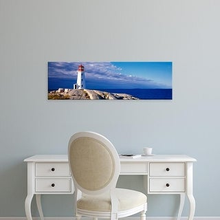 Easy Art Prints Panoramic Images's 'Low Angle View Of A Lighthouse, Peggy's Cove, Nova Scotia, Canada' Canvas Art