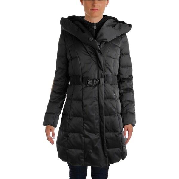 Elie Tahari Womens Puffer Coat Down Hooded