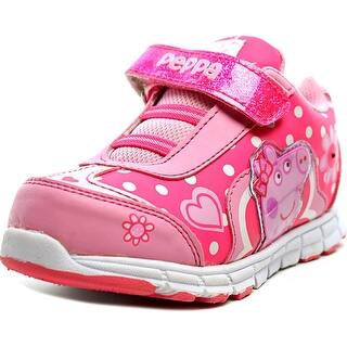 Peppa Pig Youth Round Toe Synthetic Pink Sneakers|https://ak1.ostkcdn.com/images/products/is/images/direct/4cd5d5282d2cb459155d001bb0fa13da1ff844d0/Peppa-Pig-Youth-Round-Toe-Synthetic-Pink-Sneakers.jpg?impolicy=medium