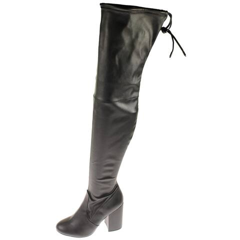 Steve Madden Womens Norri Thigh-High Boots Stretch Tall