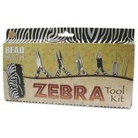 BeadSmith Zebra Tool Kit - 6 Piece Kit With Case