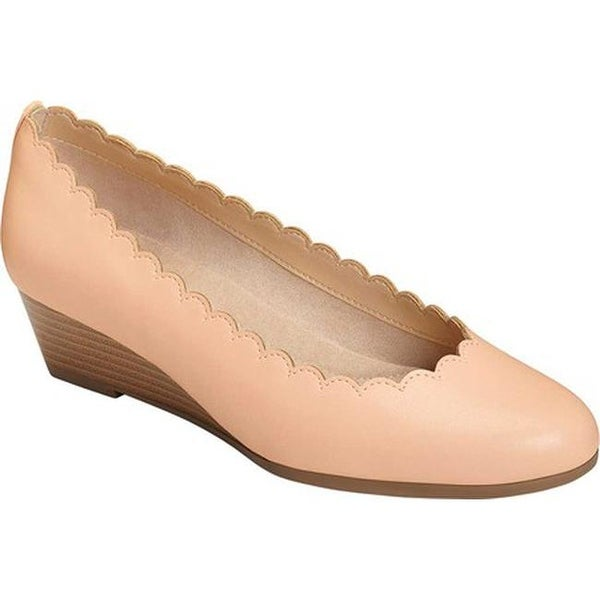46dfb3aa6c65 Shop A2 by Aerosoles Women s Love Tap Wedge Light Pink Faux Leather ...