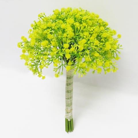 Set of 2 Baby's Breath Gypsophila Flower Stems Bouquet Bundle 12in