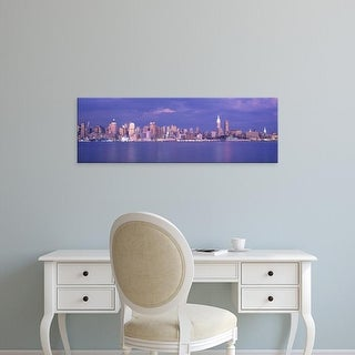 Easy Art Prints Panoramic Images's 'Hudson River, NYC, New York City, New York State, USA' Premium Canvas Art