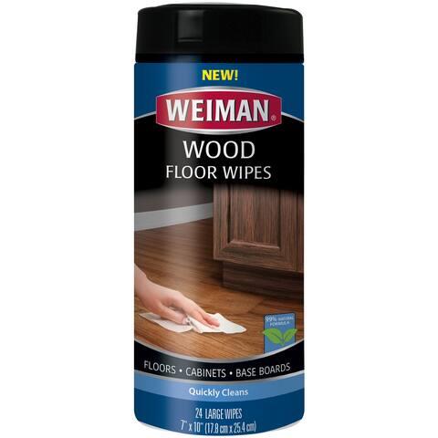 Weiman Wood Floor Wipes-24 Wipes/Pkg