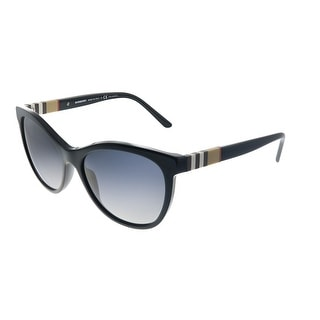 Link to Burberry  BE 4199 3001T3 Womens Black Frame Grey Gradient Polarized Lens Sunglasses Similar Items in Women's Sunglasses