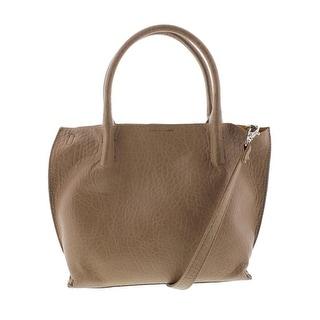 Carlos by Carlos Santana Womens Thelma Faux Leather Satchel Tote Handbag - Taupe - Medium