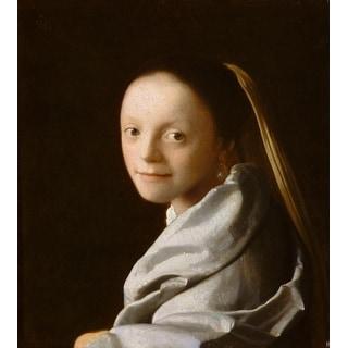 Easy Art Prints Johannes Vermeer's 'Portrait of a Young Woman' Premium Canvas Art