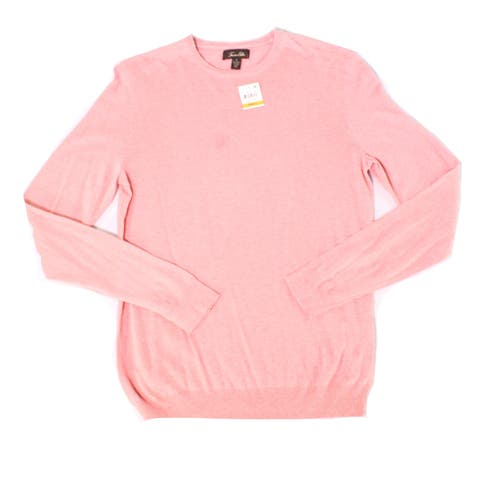 Tasso Elba Mens Sweater Pink Size Small S Crewneck Elan Pullover