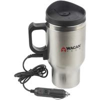 Wagan Tech(R) 6100 12-Volt Deluxe Double-Wall Stainless Steel Heated Travel Mug