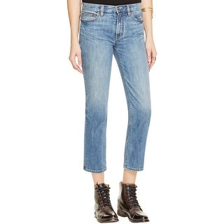 Free People Womens Jasper Cropped Jeans Denim Low Rise