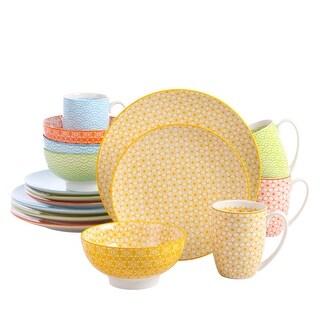 Link to vancasso, Series Natsuki, 16-Piece Multi-Color Patterned Ceramic Dinnerware Set, Service for 4 Similar Items in Dinnerware